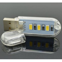 USB LED lampička velikosti flash disku