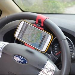 Držák na telefon do auta na volant horizontální, Barva Černá